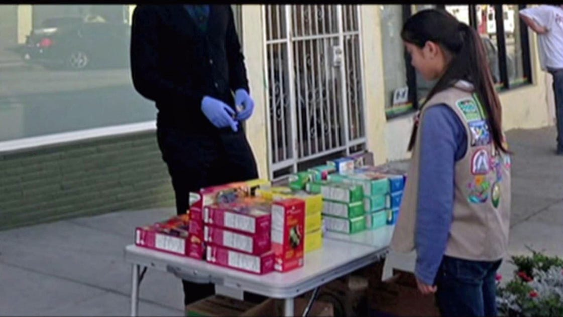 girl scout s cookie sales efforts go to pot