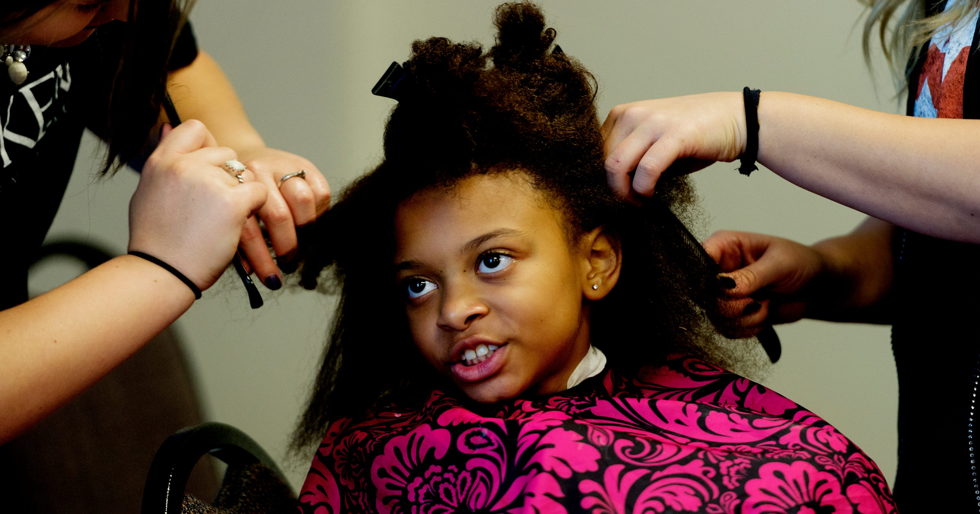 Girls Receive The Full Salon Experience At Boys Girls Club