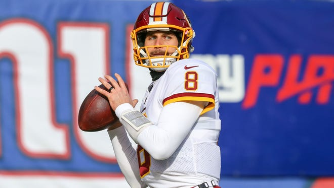 Kirk Cousins threw for 4,093 yards and 27 touchdowns last year in his sixth and final season with the Washington Redskins.