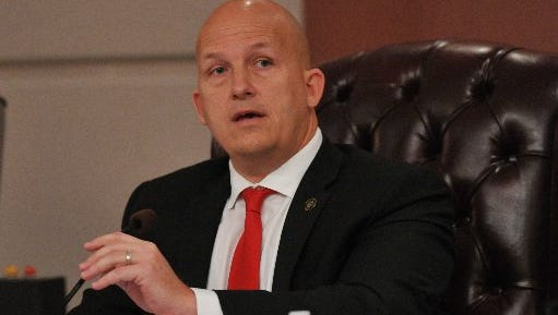 Port St. Lucie Mayor Greg Oravec speaks at a city council meeting in this file photo.