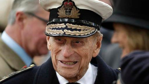 FILE - In this Thursday, Nov. 10, 2016 file photo, Britain's Prince Philip, the Duke of Edinburgh, attends the official opening of the annual Field of Remembrance at Westminster Abbey in London. Figures released Wednesday, Dec. 28, 2016 show the prince made 110 public appearances this year, compared to the 80 royal engagements racked up by his grandson Prince William.