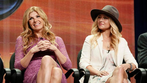 "FILE - In this July 27, 2012 file photo, cast members Connie Britton and Hayden Panettiere attend the ""Nashville"" panel at the Disney ABC TCA Day 2 at the Beverly Hilton Hotel, in Beverly Hills, Calif. Cancelled by ABC after four seasons, the new season of ""Nashville"" on CMT, which begins Jan. 5, 2017, aims to reflect more diversity in both the music and the cast."