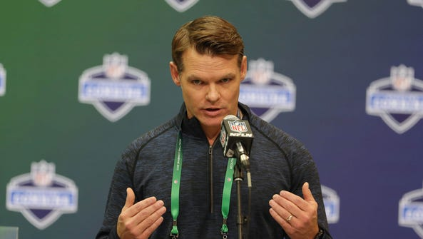 Indianapolis Colts general manager Chris Ballard speaks
