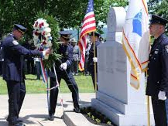 Rockland Police Memorial ceremony honoring officers