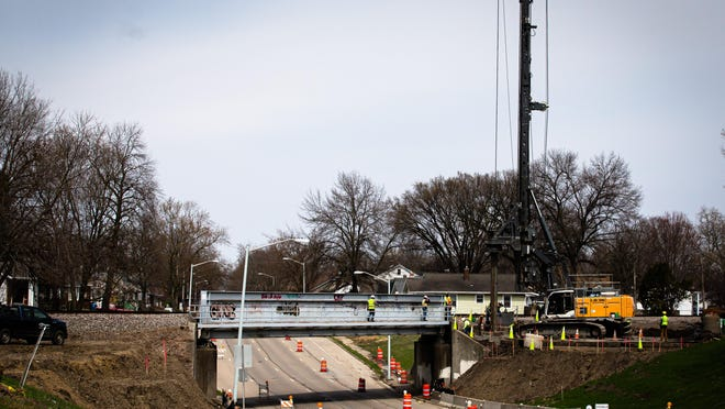 The installation of a new railroad bridge will mean that a stretch of Fifth Street will be closed starting Friday. It will re-open on Feb. 8. [Justin L. Fowler/The State Journal-Register]