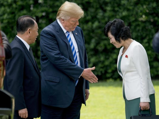 Donald Trump,Kim Yong Chol,Kim Song Hye