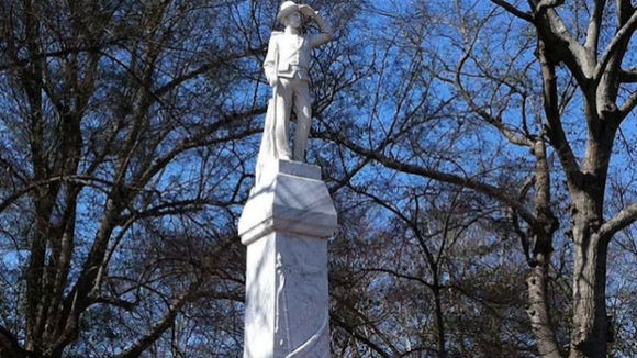 This Confederate statue, built in 1906, sits on the University of Mississippi campus. A debate has begun on how to best put that statue in context.