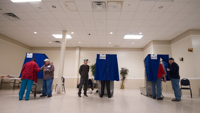 View of the voting booths at Dover Elks Lodge #1903 in Dover during last November's elections.