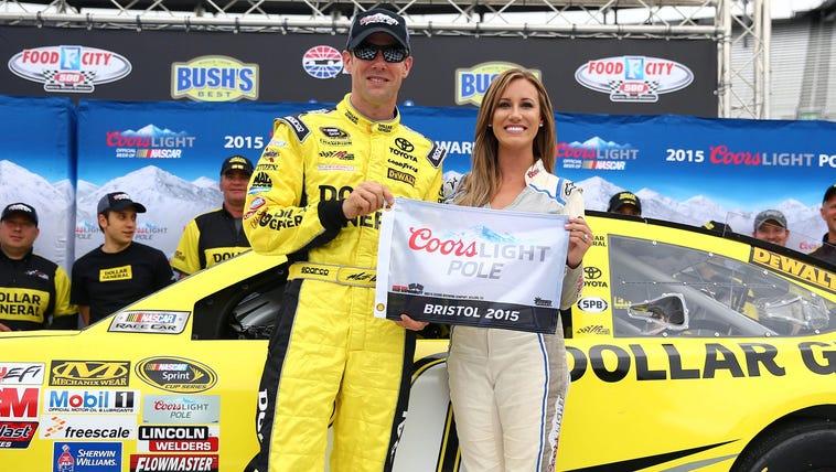 NASCAR Sprint Cup Series driver Matt Kenseth (20) wins