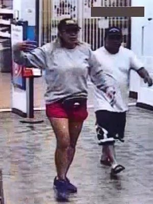 Las Cruces Crime Stoppers is offering a reward up to $1,000 for information that helps identify a couple suspected of shoplifting a felony amount of electronics from Walmart on July 27, 2017.
