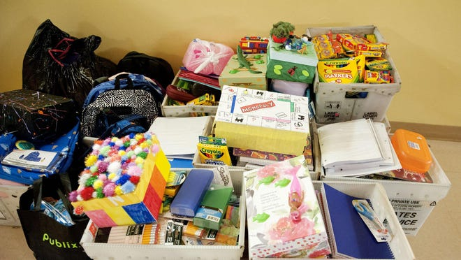 The spoils of the 2019 Town of Palm Beach United Way Boxed for Success School Supply Drive supplied three Title 1 elementary schools in the county with paper, crayons, pencils and more.
