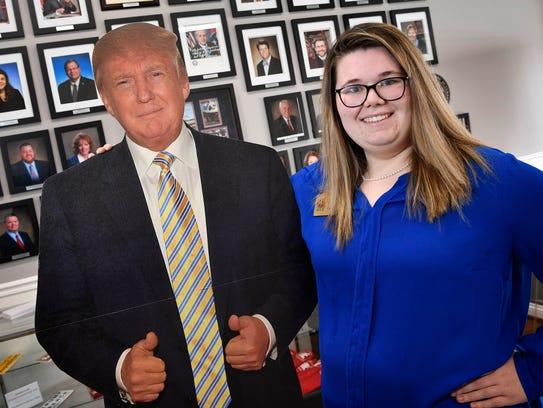 April Carroll, 21, head of the MTSU College Republicans