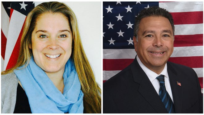 Laurie Santulli (left) is opposing Richard Diaz in the race for the Rockland Legislature's District 11 seat representing the Congers area. Diaz was appointed to the seat after Frank Sparaco resigned.