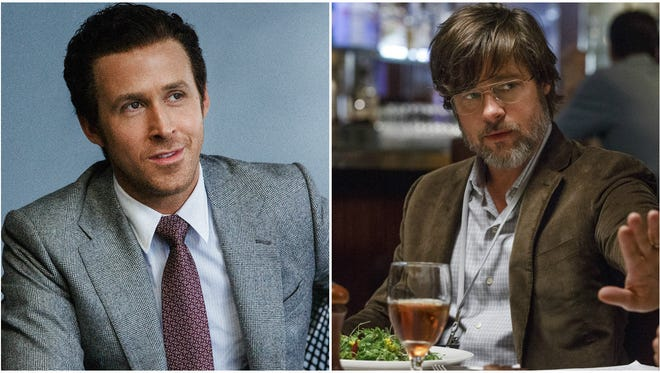 Ryan Gosling (left) and Brad Pitt co-star in 'The Big Short.'