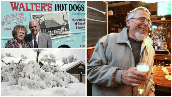 Gloria and Gene Warrington of Walter's Hot Dogs in Mamaroneck, from left, and Aurelio Orlandini at O'Donoghue's Tavern.
