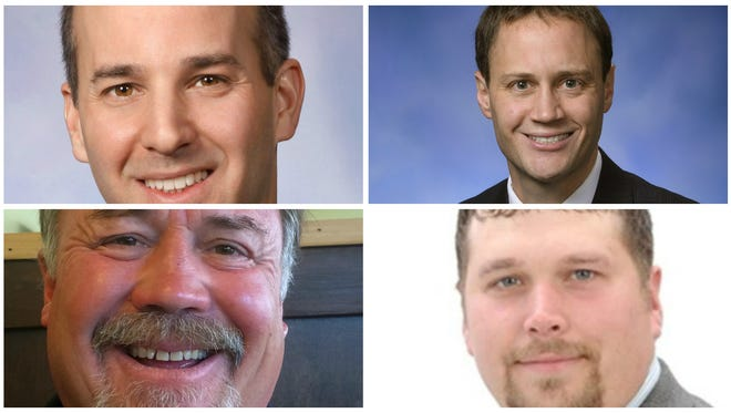 Clockwise from top left, state Reps. Andy Schor, Tom Leonard, Tom Cochran and Brett Roberts are seen in this collage of LSJ file photos. All four incumbents will face primary challengers on Aug. 2.