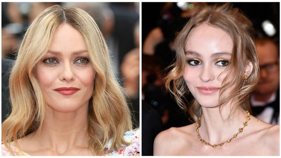Lily-Rose Depp (right) looks just like her mother,