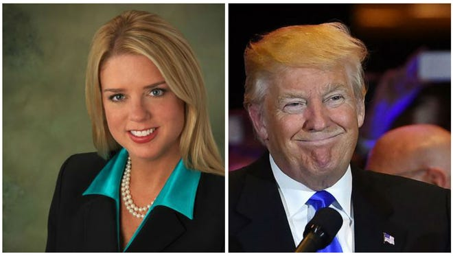 Florida's attorney general Pam Bondi personally solicited a political contribution from Donald Trump around the same time her office deliberated joining an investigation of alleged fraud at Trump University and its affiliates