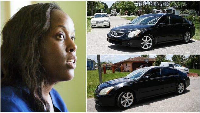 """""""My kids are everything to me. I must protect them,"""" says Maya Outten of her decision to avoid driving through the Dunbar community of Fort Myers at night."""