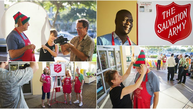 Scenes from the filming of a Salvation Army public service announcement in south Fort Myers.