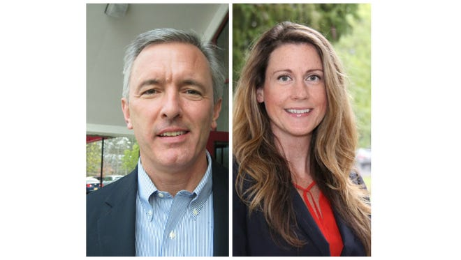 Republican Rep. John Katko, left, and Democrat Colleen Deacon are running in the 24th Congressional District.