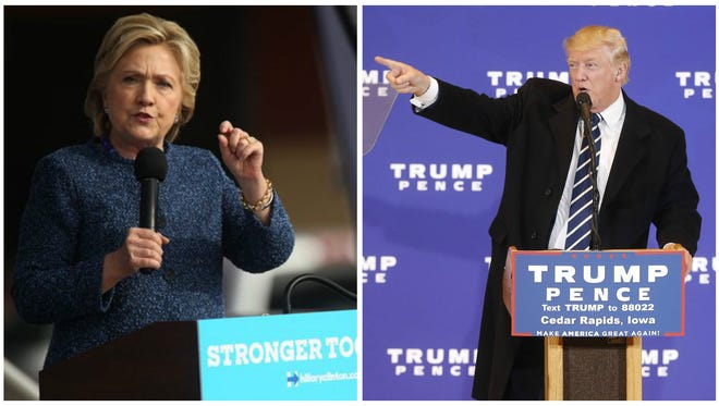 Hillary Clinton and Donald Trump both held events in Cedar Rapids Friday Oct. 28, 2016.