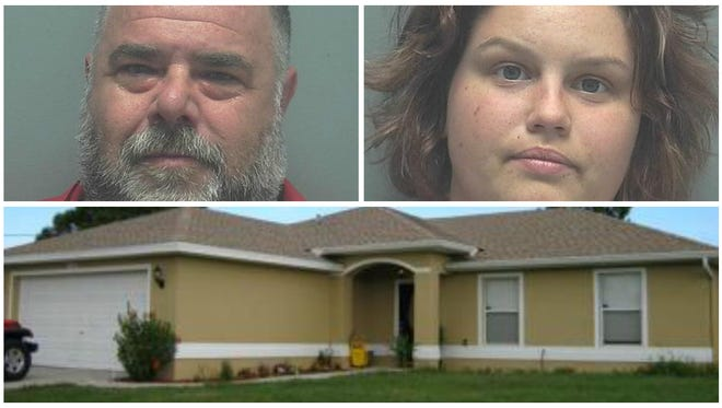 Philip Magnotti and Natasha Borkowski were arrested on several drug trafficking charges at this Lehigh Acres home ion Wednesday.