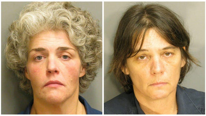 Lee Ann England (left) and Margaret Lynne Williams (right) were arrested Tuesday in Montgomery for illegal possession of slugs.