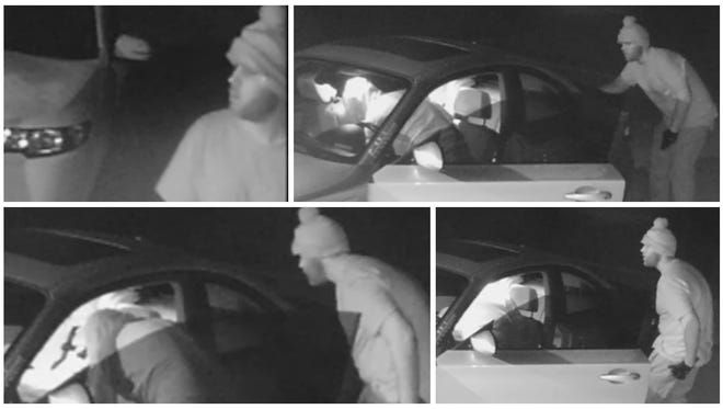 One man was arrested and second is sought in a series of occupied home burglaries Friday in Cape Coral. Police are looking for the identity of the man standing outside the car in the above photos.