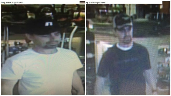 Sparks police released two photos of a man who they believe stole tools from a pawn shop in two separate occasions.