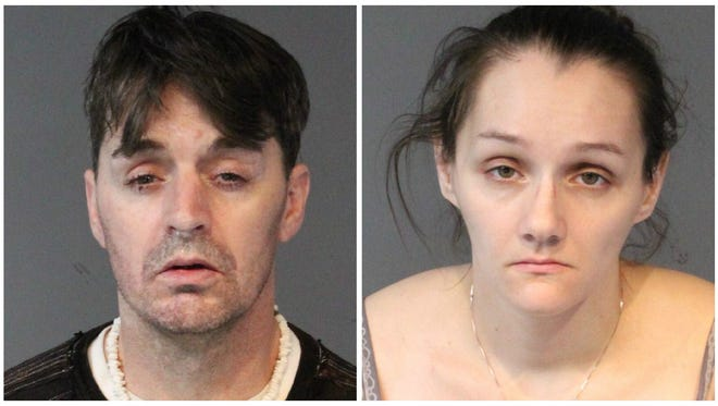Rebecca Ervin, 31, and Tom Eugene Anderson, 42, both of Reno, face burglary-related charges that stem from two thefts reported in early October at a SuperPawn store in Sparks.