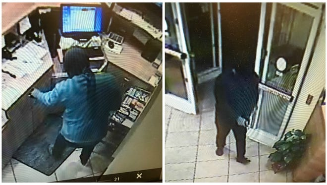 Deputies are searching for these two men who they say are responsible for a robbery at a Lehigh Acres hotel in November.