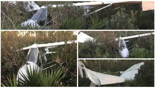 A 60-year-old male pilot was hurt when his lightweight aircraft crashed on takeoff at Punta Gorda Airport on Saturday aftermnoon.