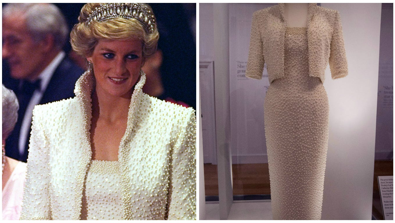 5 must see outfits from the princess diana fashion exhibit princess diana fashion exhibit