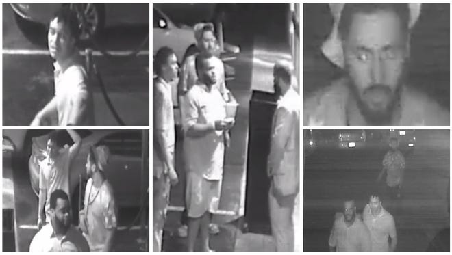 Images are of the three suspects who Fort Myers police said were involved in the altercation.