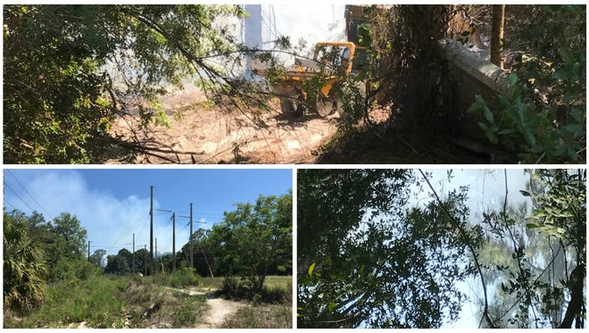 A one-ace  brush fire was quickly controlled and several structures saved along Shiela Lane in North Fort Myers on Sunday.