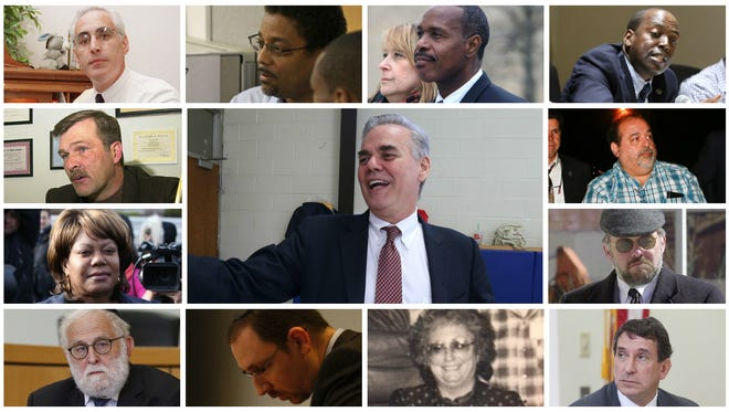 A collage of some of the Rockland County officials who have faced legal scrunity.