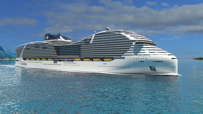 MSC Cruises' World Class ships will feature an unusual shape.