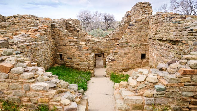 9. AZTEC RUINS NATIONAL MONUMENT Cost to visit: $5  Explore a half-mile trail leading through old ruins and see the 400-room Pueblo Great House at Aztec Ruins National Monument in Aztec, N.M. Overhead, 900-year-old timbers support the original roof, and the mortar walls show the fingerprints of the pueblo's original builders. Wander through the site's museum in the house of archaeologist Earl Morris and watch a 15-minute video about the site's original inhabitants.