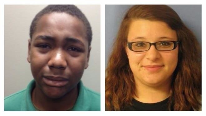 Ezzie Johnson, 17 (left), and Haleigh Alexis Hudson, 19, are wanted by Gulfport Police.