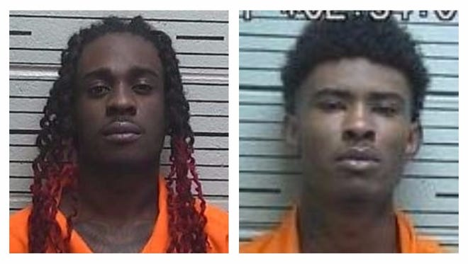 From left: Damian De'ondre Rogers, 20, is charged with robbery and assault. Irvin Montel West is charged with assault and attempting to elude a police officer.