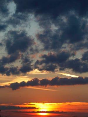 Sunrise on Tuesday.