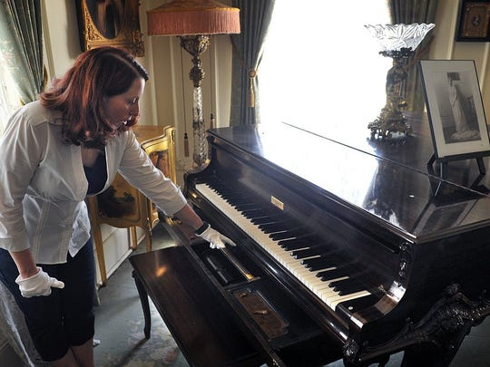 Stacie Flood, curator of the Kell House Museum, describes