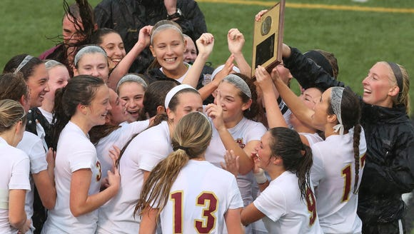 Suffern and Arlington in the girls soccer Section 1