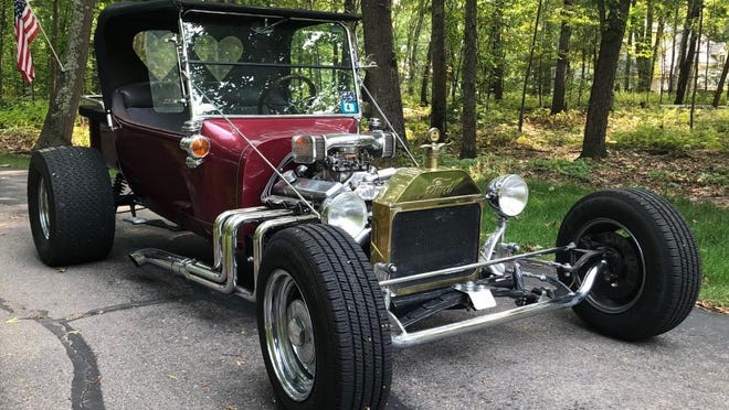 Jim Lawson's 1923 Ford T Bucket will be part of the antique car parade on Saturday, Oct. 10. The parade of 150 vintage cars will visit a couple of local nursing homes.
