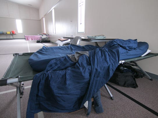 Two cots are set up Wednesday, Jan. 3, 2018 at Green
