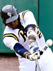 First baseman Telvin Nash homered in his return to
