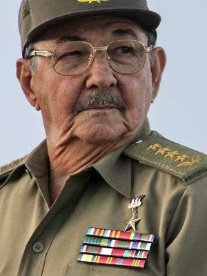 Acting Cuban President Raul Castro participates in a military parade on Dec. 2, 2006, at Revolution Square to celebrate the 80th birthday of his brother, President Fidel Castro, and the 50th Anniversary of the Cuban Army.