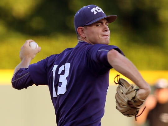Tyler Alexander with TCU earlier this year.