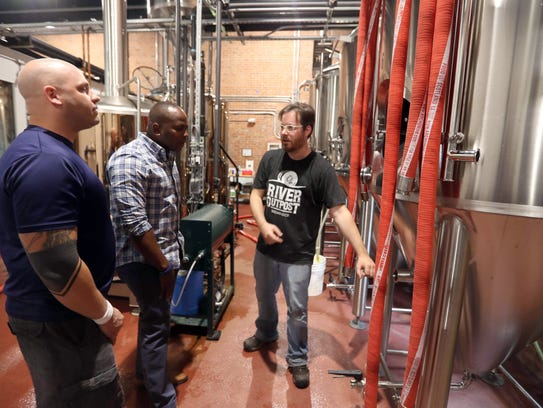 Justin Sturges, head brewer at River Outpost Brewery